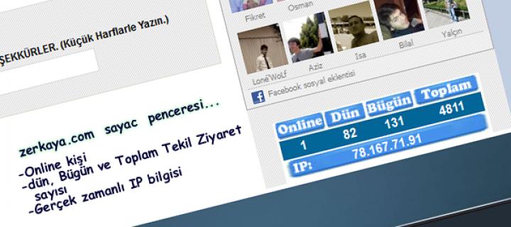 PHP Online Sayaç Kodu